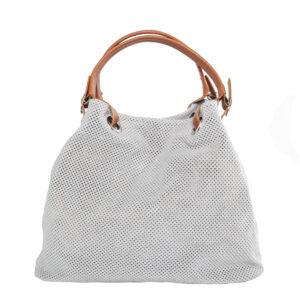 Világos szürke bőr táska