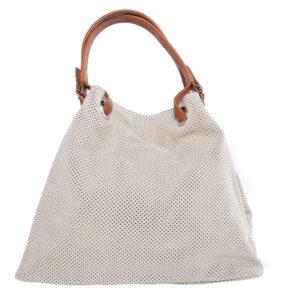 Világos bézs bőr táska