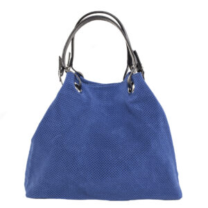 Világos kék bőr táska