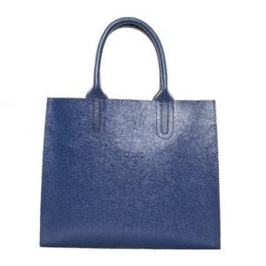 Kék bőr táska
