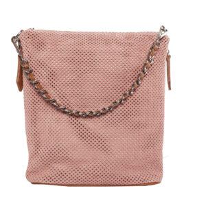 Rózsaszín bőr táska