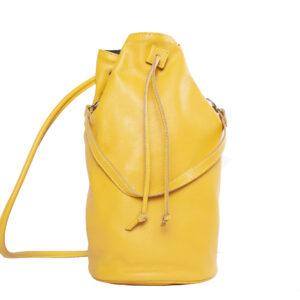 Sárga bőr hátizsák
