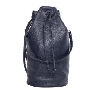 Fekete bőr hátizsák