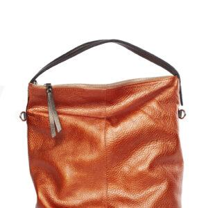 Narancssárga bőr táska