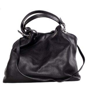 Fekete bőr táska