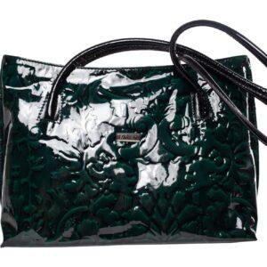 Sötétzöld bőr táska