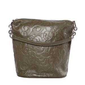 Zöld bőr táska