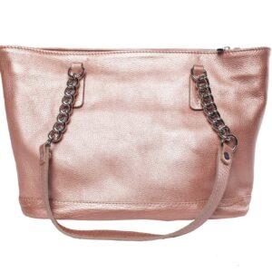 Rózsaszínű bőr táska