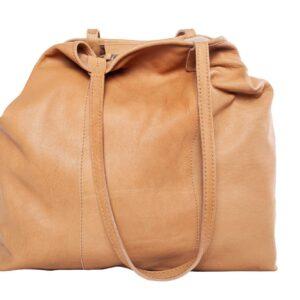 Világosbarna bőr táska