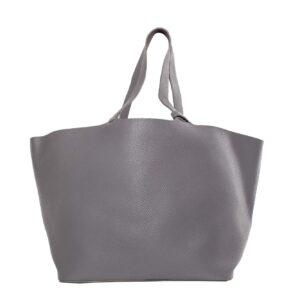 Szürke bőr táska