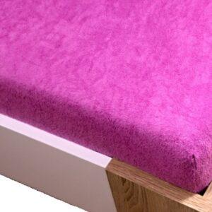 Homa frottír gumis lepedő rózsaszín 60x120cm