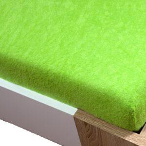 Homa frottír gumis lepedő zöld 60x120cm