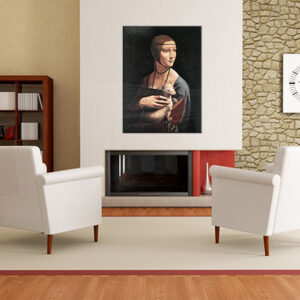 Vászonkép HERMELINES HÖLGY - Leonardo da Vinci 00 REP024