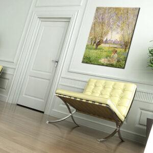 Vászonkép LÁNY A FŰZFA ALATT - Claude Monet   REP074