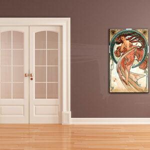 Vászonkép TÁNC - Alfons Mucha REP090 (reprodukció 50x80 cm)