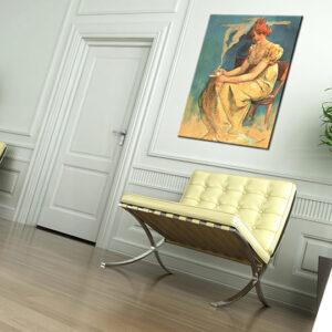 Vászonkép KÁVÉ - Alfons Mucha REP094 (reprodukció 50x70 cm)