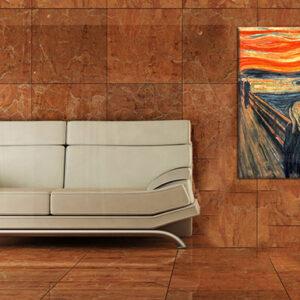 Vászonkép KIÁLTÁS - Edvard Munch  REP101 (reprodukció 80x60 cm)