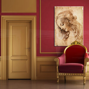 Vászonkép Női FEJ - Leonardo Da Vinci REP166 (reprodukció)