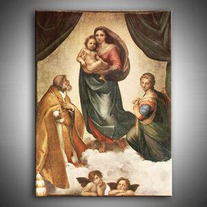 Vászonkép Sixtusi Madonna - Raffaello Santi 0 REP235
