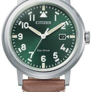 Női karóra Citizen Eco-Drive AW1620-13X - A számlap színe: zöld