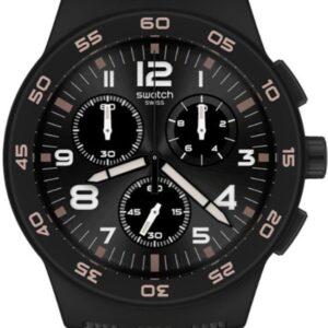 Női karóra Swatch Black Cord SUSB106 - Vízállóság: 30m (páraálló)