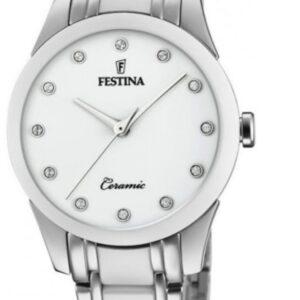 Női karóra Festina Ceramic 20499/1 - A számlap színe: fehér