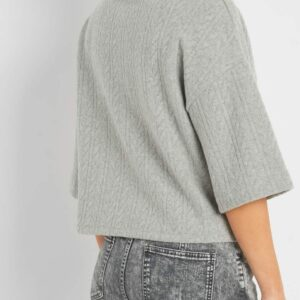 Fonott mintájú pulóver ORSAY