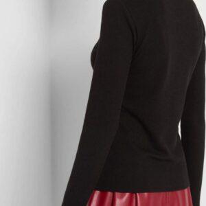 Garbós bordázott pulóver ORSAY