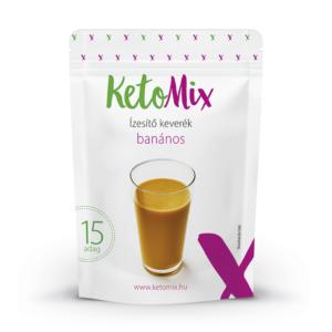 Koktél ízesítő - banán - 45 g - Proteindús ételek KETOMIX