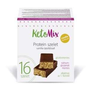 Vaníliaízű protein szeletek 16 x 40 g - Proteindús ételek KETOMIX