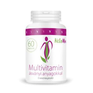 Multivitamin ásványi anyagokkal (60 kapszula) - Proteindús ételek KETOMIX