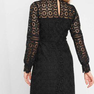 Állónyakú csipkés ruha ORSAY