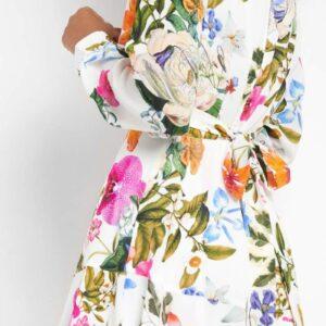Virágmintás átlapolt ruha ORSAY
