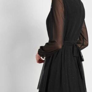 Fodros csillámporos ruha ORSAY