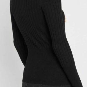 Bordázott garbós pulóver ORSAY