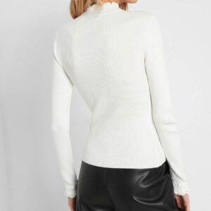 Félgarbós bordázott pulóver ORSAY