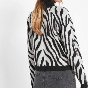 Zebra mintás pulóver ORSAY
