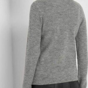 Bordázott pulóver kitűzővel ORSAY