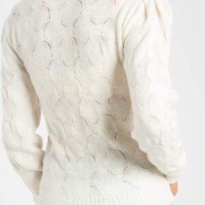 Pufi vállú azsúros pulóver ORSAY