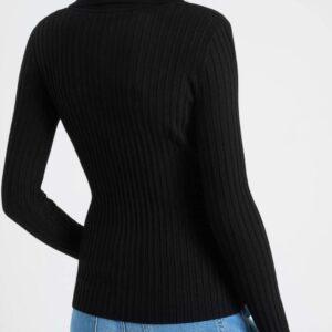 Bordázott pulóver gallérral ORSAY
