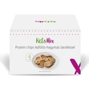 Protein chips tejfölös-hagymás ízesítéssel (4 adag) - Proteindús ételek KETOMIX
