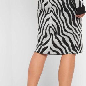 Zebra mintás szövet szoknya ORSAY