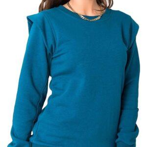 Kék női pulóver a vállán✅ - RUE PARIS