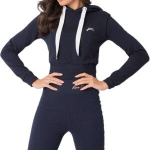 Kék pulóver derékhosszal✅ - For Fitness