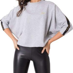 szürke pulóver denevér ujjú✅ - For Fitness