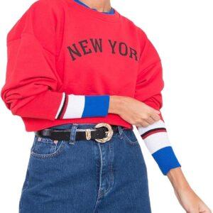féreg-kék női pulóver new york✅ - By Sally