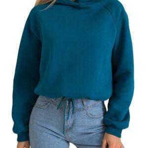 Kék női kapucnis pulóver✅ - Basic