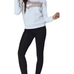 Fehér női pulóver felirattal✅ - Basic