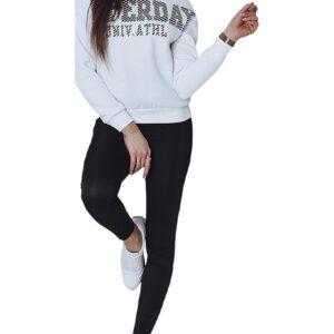 Fehér női pulóver