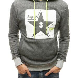 Antracit férfi pulóver csillagnyomással✅ - Basic